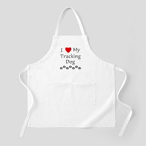 I Love My Tracking Dog Apron