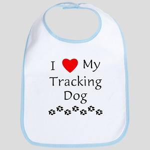 I Love My Tracking Dog Bib
