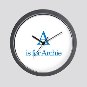 A is for Archie Wall Clock
