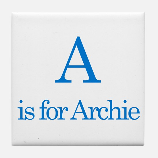 A is for Archie Tile Coaster