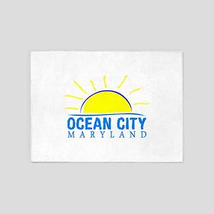 Summer ocean city- maryland 5'x7'Area Rug