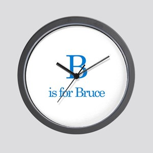 B is for Bruce Wall Clock