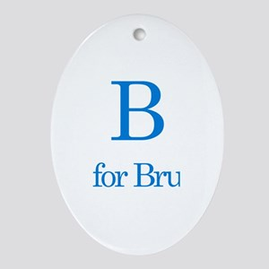 B is for Bruce Oval Ornament