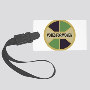 Votes For Women button design Large Luggage Tag