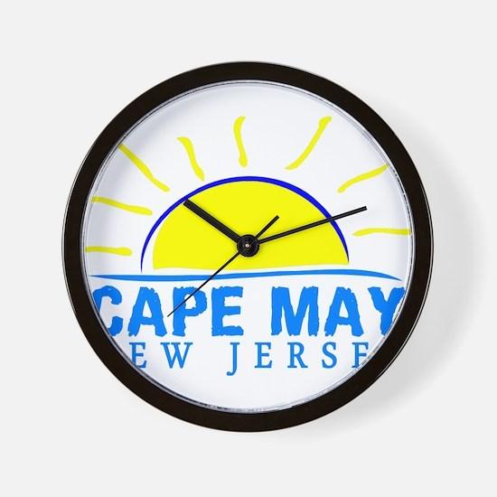 Summer cape may- new jersey Wall Clock