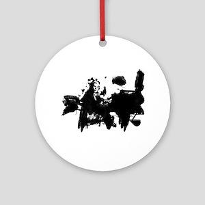 Glenn Gould Pianist Round Ornament