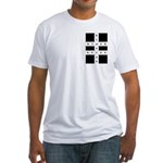 Blasiancrossword In A Fitted T-Shirt
