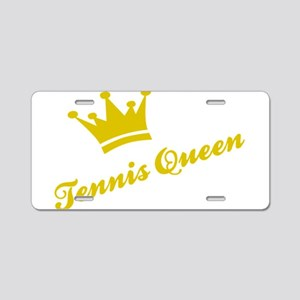 Tennis Queen Aluminum License Plate