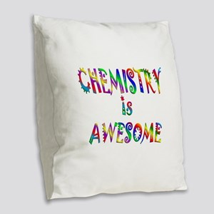 Chemistry is Awesome Burlap Throw Pillow