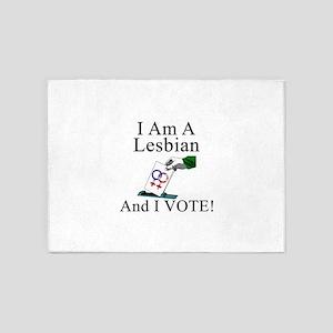 A - I vote lesbian 5'x7'Area Rug