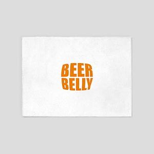 Beer belly 5'x7'Area Rug