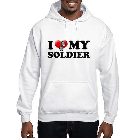 I (heart) my Soldier Hooded Sweatshirt