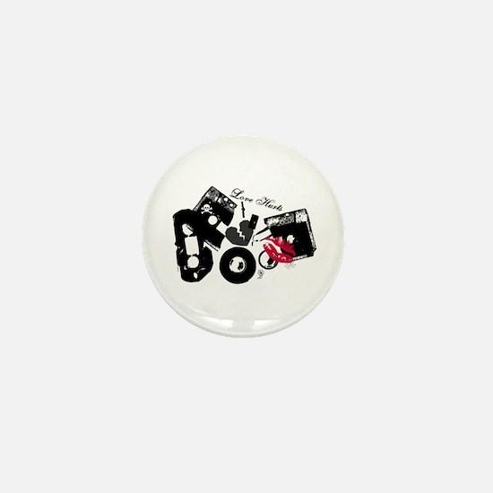Love Hurts Mix Tape Mini Button
