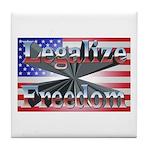 Legalize Freedom Tile Coaster