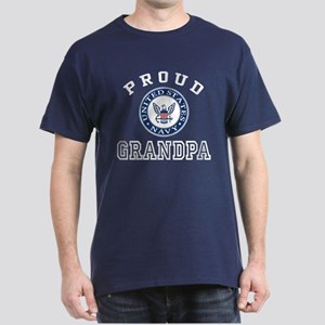 Proud US Navy Grandpa Dark T-Shirt