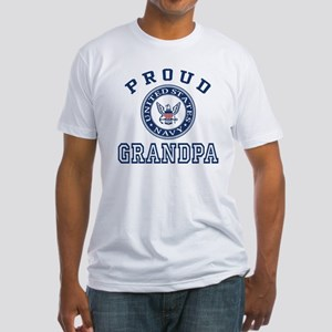 Proud US Navy Grandpa Fitted T-Shirt