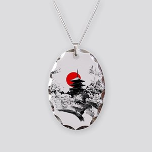 Kyoto Temple Necklace Oval Charm