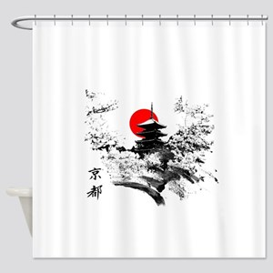 Kyoto Temple Shower Curtain