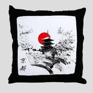 Kyoto Temple Throw Pillow