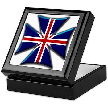British Biker Cross Keepsake Box