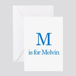 M is for Melvin Greeting Card