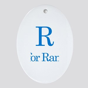 R is for Randy Oval Ornament