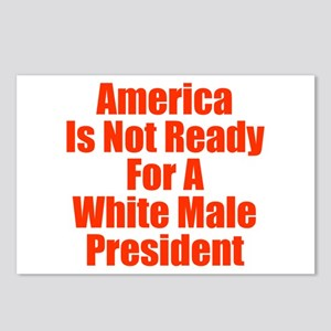 White Male President Postcards (Package of 8)