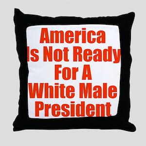 White Male President Throw Pillow