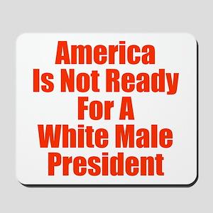 White Male President Mousepad