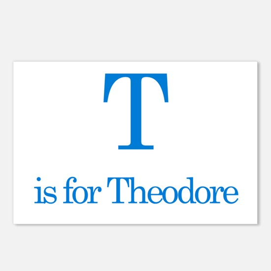 T is for Theodore Postcards (Package of 8)