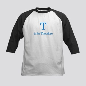 T is for Theodore Kids Baseball Jersey