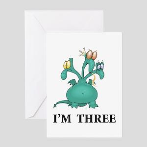 I AM THREE Greeting Card