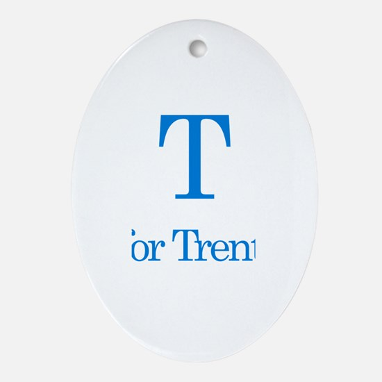 T is for Trenton Oval Ornament
