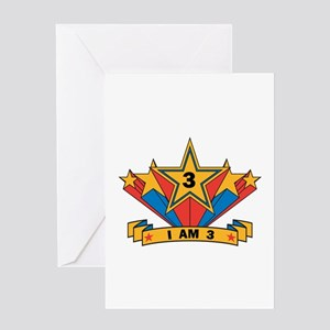 Star 3 years old Greeting Card