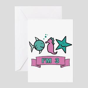 Sea World 3 years old Greeting Card