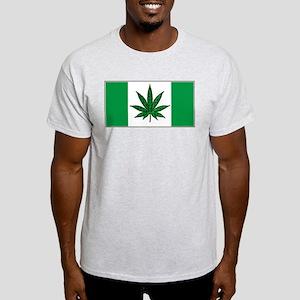 Marijuana Green  Canadian Fla Light T-Shirt
