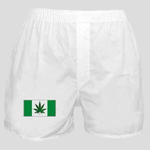 Marijuana Green  Canadian Fla Boxer Shorts
