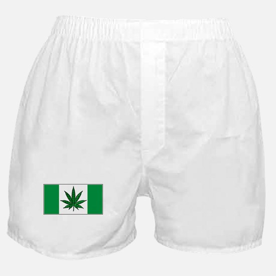 Marijuana Green  Canadian Fla Boxer Shorts
