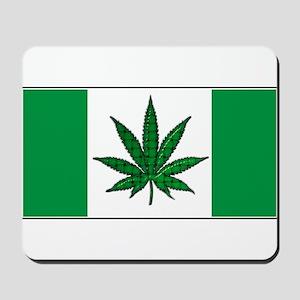Marijuana Green  Canadian Fla Mousepad