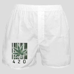 420 Marijuana Power Leaf Boxer Shorts