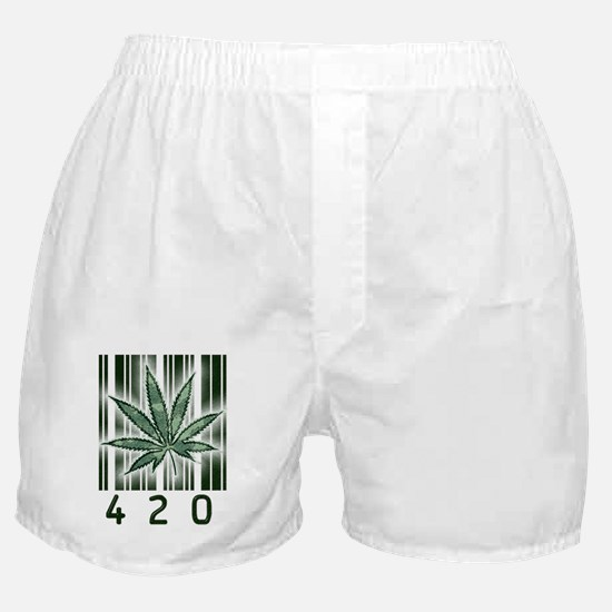 420 Marijuana Power Leaf Boxer Shorts