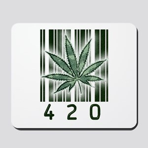 420 Marijuana Power Leaf Mousepad