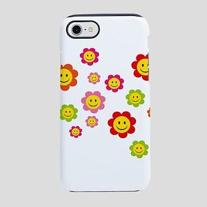 Flower Power smiley iPhone 8/7 Tough Case