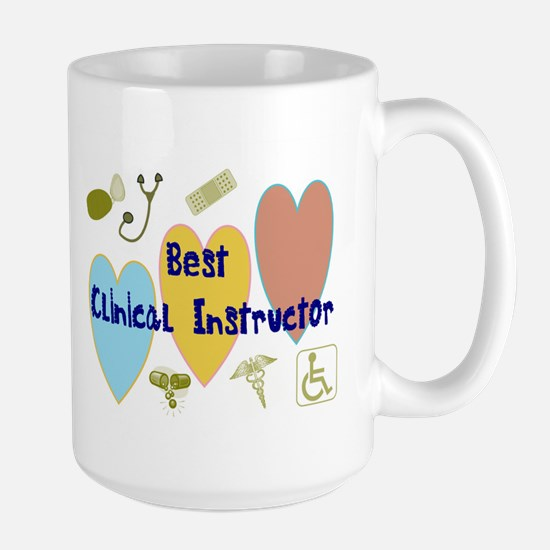 Best Clinical Instructor BLUE KRISS DOTTY FONT COU