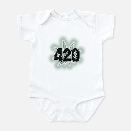 Marijuana Power Leaf 420 Infant Bodysuit
