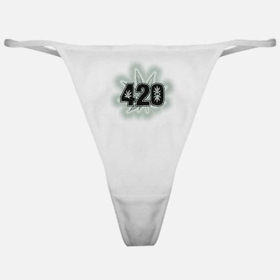 Marijuana Power Leaf 420 Classic Thong