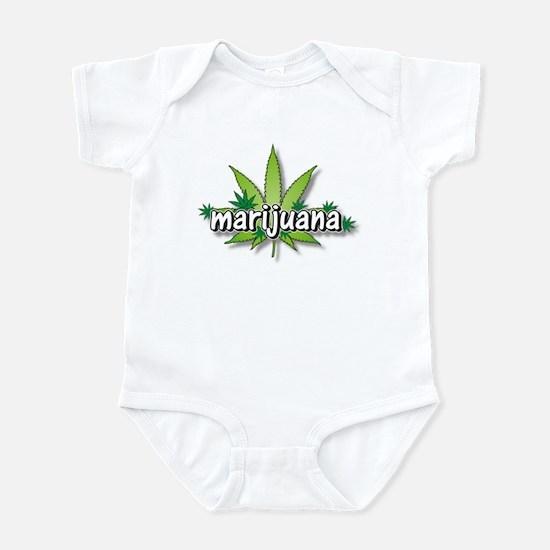 Marijuana leaves Infant Bodysuit