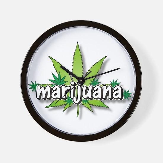 Marijuana leaves Wall Clock