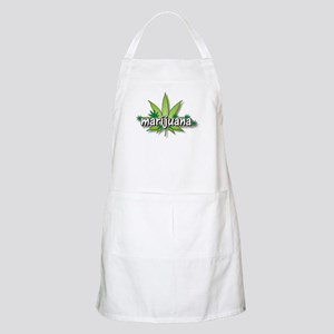 Marijuana leaves BBQ Apron