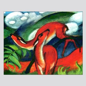 Red Deer by Franz Marc Small Poster